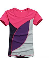 Tee-shirt Homme,Couleur Pleine Vêtements de Plein Air simple Eté Manches Courtes Col Arrondi Coton Moyen