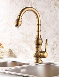 Antique Tall/High Arc Centerset Swivel with  Ceramic ValveAntique Copper , Kitchen faucet