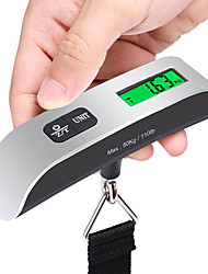 Travel Luggage Scale Portable Multi-function 110 Lbs Luggage Scale with Temperature Sensor and Tare Function Gift For Traveler, Silver, One Size