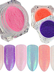 0.2g/bottle New Fashion Beautiful Shining Candy Color Nail Art DIY Beauty Glitter Sugar Coating Powder Mermaid Design Sparkling Decoration TY21-29