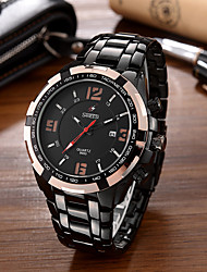 SANEESI Men's Fashion Watch Wristwatch Luxucy Elgant Unique Creative Cool Watch Quartz Big Dial Calendar Business Classic Stainless Steel Band Watches