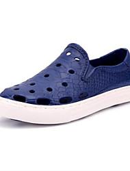 Masculino Sandálias PVC Verão Rasteiro Azul Rasteiro