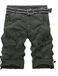 Men's High Rise strenchy Shorts Pants,Boho Loose Bootcut Solid