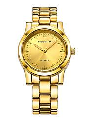 Mulheres Relógio de Moda Chinês Quartzo Lega Banda Prata Dourada