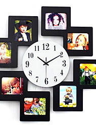 11*9cm 8 Picture Multi Photo Frame Display Wall Clock Time Family Album Colorful Color Modern