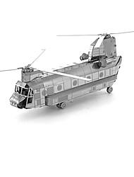 Quebra-cabeças Quebra-Cabeças 3D Blocos de construção Brinquedos Faça Você Mesmo Helicóptero Metal Modelo e Blocos de Construção