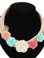 Pendant  Necklace  Women's  Girls' Sweet  Flowers  Euramerican  Bohemia  Choker  Necklaces  Jewelry Party Birthday Wedding  Movie  Gifts  Jewelry