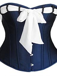 Женский Классический корсет Ночное белье Сексуальные платья Увеличивающий объем Тонкая прозрачная ткань Органический хлопок