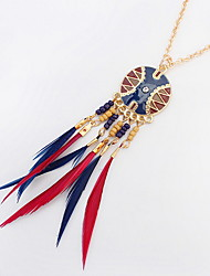 Euramerican Fashion Disc Delicate Simple Style Multicolor Tassel Female Daily Necklaces Jewelry