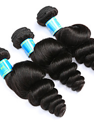 Vinsteen Loose Wave Human Hair 3Pcs Indian Hair Extensions Natural Human Hair Weft Double Weft Human Hair Weaves Silky Human Hair for Black Women