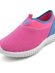 Women's Sneakers Walking Comfort Tulle Spring Summer Casual Outdoor Flat Heel Gray Ruby 1in-1 3/4in