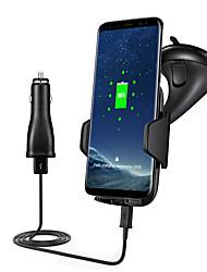 быстрый автомобиль беспроводной зарядное устройство быстрой зарядки 10.8w установленных на транспортных средствах держатель для Samsung S8