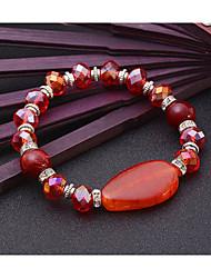 Women's Strand Bracelet Natural Friendship Movie Jewelry Fashion Luxury Crystal Agate Alloy Geometric Jewelry ForWedding Party Special