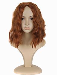 Mujer Pelucas sintéticas Sin Tapa Medio Rizado Naranja Peluca de cosplay Las pelucas del traje