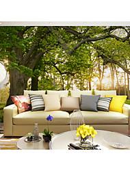 Árboles y Hojas Art Decó de impresión en 3D Fondo de pantalla Para el hogar Moderno / Contemporáneo Revestimiento de pared , Lienzo