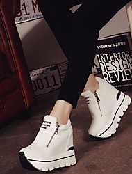 Women's Sneakers Comfort PU Spring Casual Black White 1in-1 3/4in