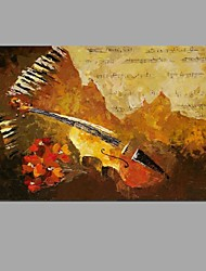 Hand-painted Oil Painting The score on the keyboard Wall Art with Stretched Framed Ready to Hang