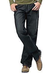 Homme simple Taille Normale Jeans Pantalon,Ample