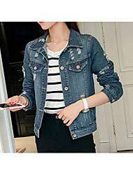 Damen Jeansjacke,V-Ausschnitt