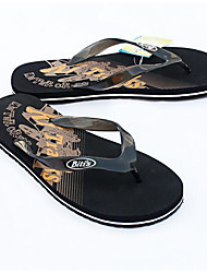 Men's Slippers & Flip-Flops PVC Spring Black Blue Flat