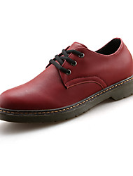 Herren Loafers & Slip-Ons Komfort paar Schuhe Kunstleder Frühling Sommer Party & Festivität Komfort paar Schuhe SchnürsenkelFlacher