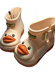 Girls' Flats Comfort Leatherette Spring Fall Outdoor Casual Walking Magic Tape Low Heel Light Pink Yellow Black Flat
