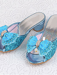 Girls' Flats Comfort Flower Girl Shoes Leatherette Summer Fall Casual Dress Comfort Flower Girl Shoes Sequin Flat HeelBlushing Pink Blue
