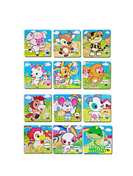 Jigsaw Puzzles Jigsaw Puzzle Building Blocks DIY Toys Square Wooden A Pack of 12 Pieces