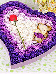 1 Favor Holder-Heart-shaped Plastic Gift Boxes