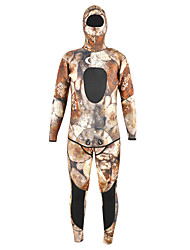 YON SUB Men's 5mm Full Wetsuit Diving Hoods Wetsuit Top Wetsuit PantsHigh Strength Thermal / Warm Quick Dry Anatomic Design Breathable
