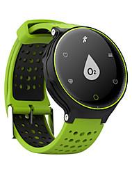 Homens Relógio Inteligente Digital Silicone Banda Azul Vermelho Verde