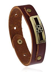 Retro Fashion Accessories Leather Bracelet Clover