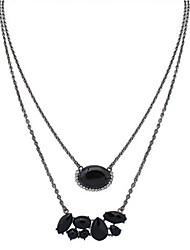 Mujer Collares con colgantes Collares de cadena Collares en capas Joyas Resina LegierungDiseño Básico Diseño Único Colgante Amistad