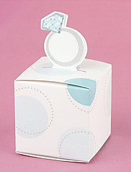 12pcs Favor Holder - Cubic Ring Candy Box 5.2 x 5.2 x 8 cm Beter Gifts® Party Favor Bag Decoration