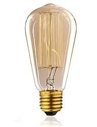 60W E27 ST58 Vintage Edison Bulb 2700k Reto Light Lamp Incandescent Filement Tungsten for Hotel(220-240V)
