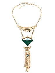 Women's Choker Necklaces Pendant Necklaces Statement Necklaces Plastics Ferroalloy Metal Alloy Resin Euramerican Handmade Fashion Jewelry