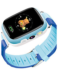 Kid's Smart Watch Digital Rubber Band Blue Pink
