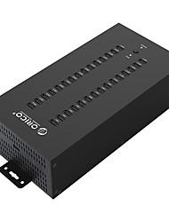 Oro ih30p-bk usb 2.0 hub ad alta velocità 30 porte 480 mbps con cavo 1m