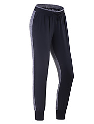 Pantalones de Running Gimnasio, Correr & Yoga Secado rápido Transpirable Cortados para Jogging Ejercicio y Fitness Delgado Negro