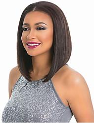 Premier ®150% de lumière légère yaki glueless short bob haircut perruque frontale 100% perruques bruns brésiliennes pour femmes