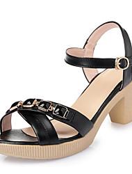 Mujer Sandalias Confort Cuero Verano Casual Negro Beige Rosa 5 - 7 cms