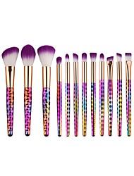 15pcs Makeup Brush Set Eyeshadow Brush Eyeliner Brush Foundation Brush Nylon Matte Cute Full Coverage Aluminum Wood Face