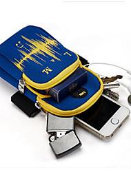 Homme Mobile Bag Phone Tissu Oxford Toutes les Saisons Décontracté Rondes Fermeture Bleu Noir