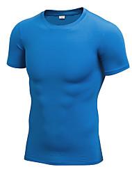 Homme Tee-shirt de Course Manches Courtes Fitness, course et yoga Séchage rapide Anti-transpiration Décontracté / Quotidien Tee-shirt