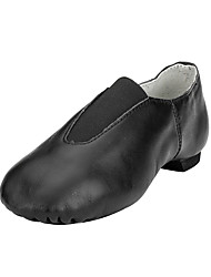 Women's Jazz Leatherette Flats Performance Flat Heel Blushing Pink Brown Black