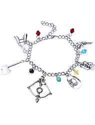Lureme® Women's Charm Bracelet Jewelry Natural Friendship Gothic Movie Jewelry Vintage Hip-Hop Stretch Alloy Circle Jewelry ForParty Birthday