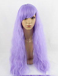 Female Wig Long Wavy Purple Color Cosplay Wig Synthetic Wigs