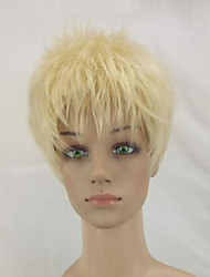 Synthetic High Temperature Fiber Woman Blonde Short Curly Pixie Hair Wigs