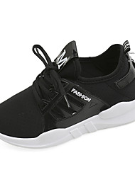 Для женщин Спортивная обувь Удобная обувь Полиуретан Весна Повседневные Удобная обувь На плоской подошве Белый Черный РозовыйНа плоской