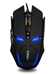 Fuhlen g300 7 touches 1600dpi usb souris à connexion filaire lumineuse avec câble de 180 cm